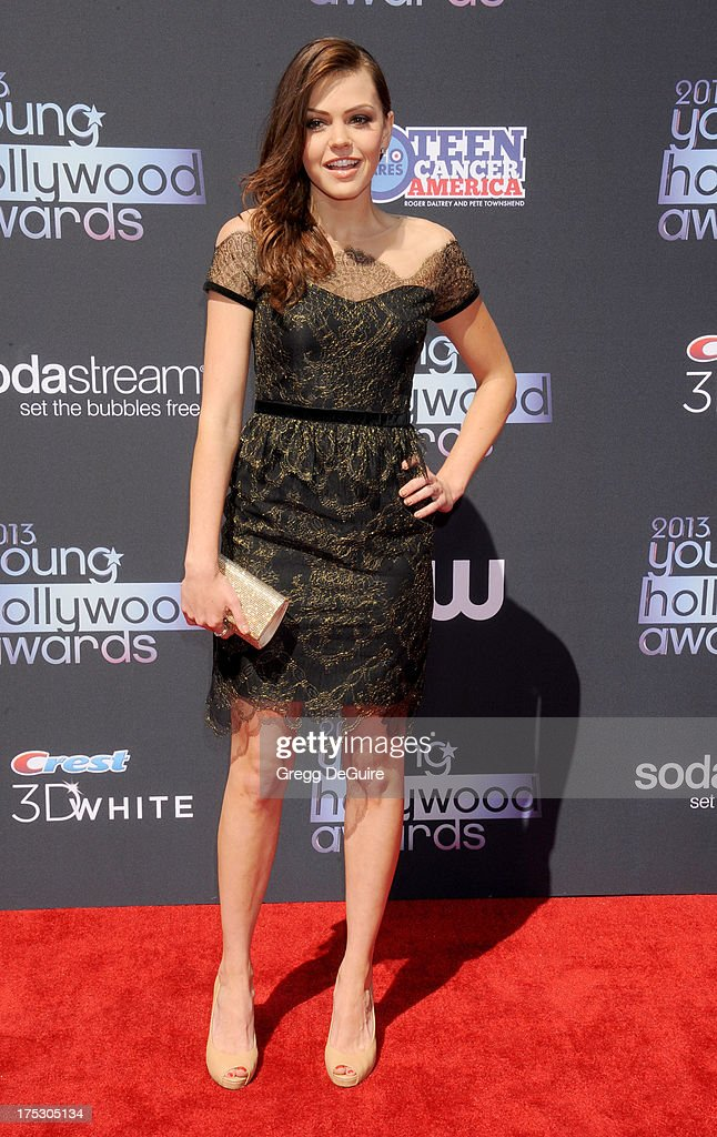 Actress Aimee Teegarden arrives at the 15th Annual Young Hollywood Awards at The Broad Stage on August 1, 2013 in Santa Monica, California.