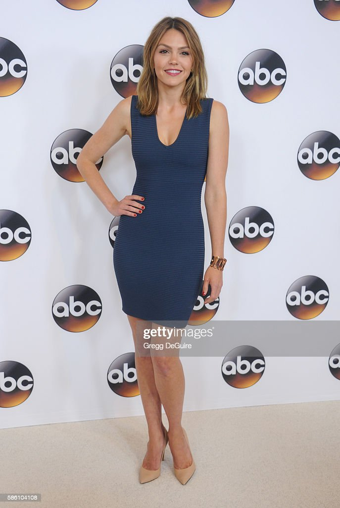 Actress Aimee Teegarden arrives at the Disney ABC Television Group TCA Summer Press Tour at the Beverly Hilton Hotel on August 4 2016 in Beverly...