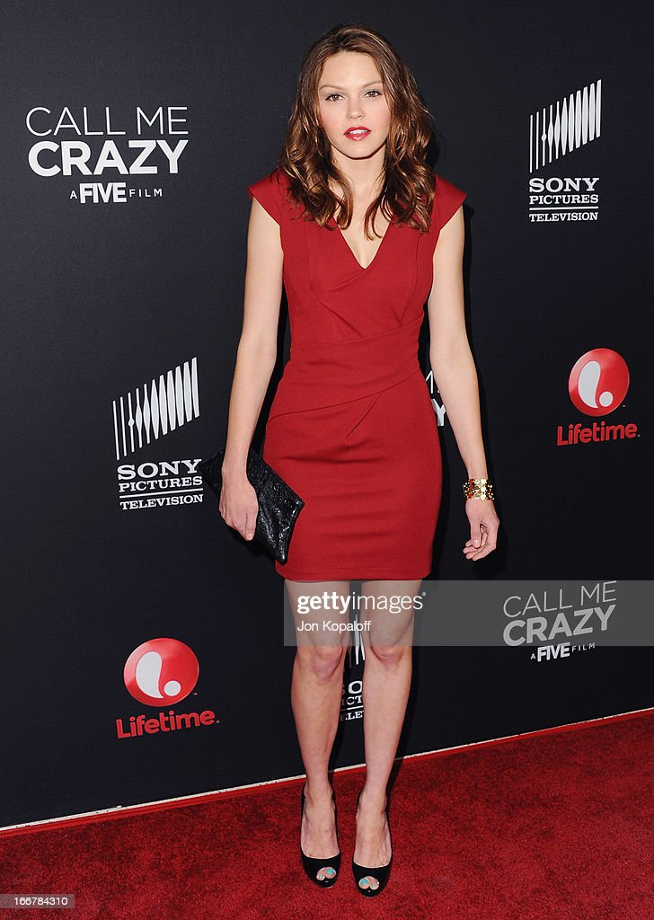 Actress Aimee Teegarden arrives at the Los Angeles Premiere 'Call Me Crazy: A Five Film' at Pacific Design Center on April 16, 2013 in West Hollywood, California.