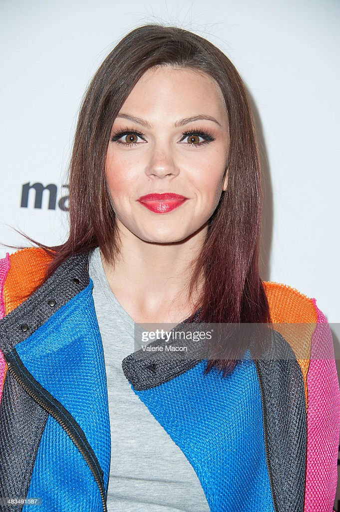 Actress <a gi-track='captionPersonalityLinkClicked' href=/galleries/search?phrase=Aimee+Teegarden&family=editorial&specificpeople=741331 ng-click='$event.stopPropagation()'>Aimee Teegarden</a> arrives at the Marie Claire's Fresh Faces Party at Soho House on April 8, 2014 in West Hollywood, California.