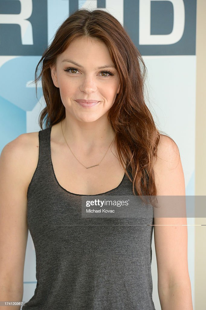 Actress Aimee Teegarden attends day 3 of the WIRED Cafe at ComicCon on July 20 2013 in San Diego California