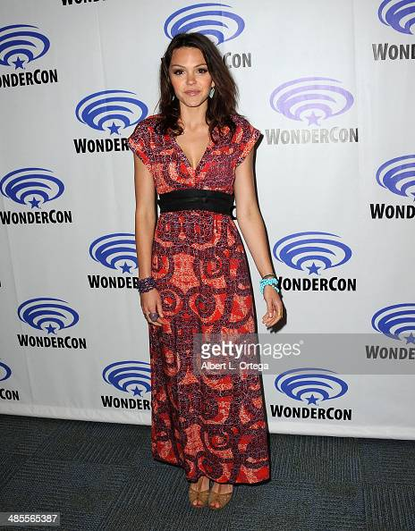 Actress Aimee Teegarden attends WonderCon Anaheim 2014 Day 1 held at the Anaheim Convention Center on April 18 2014 in Anaheim California