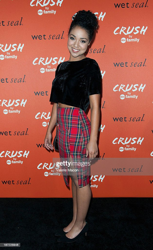 Actress Aisha Dee arrives at the Launch Celebration Of Crush By ABC Family at The London Hotel on November 6, 2013 in West Hollywood, California.