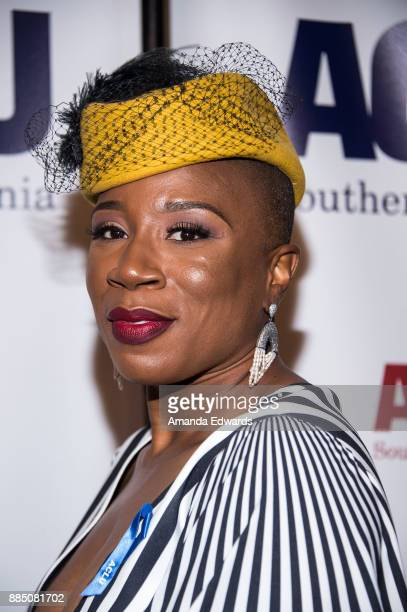 Actress Aisha Hinds arrives at ACLU SoCal's Annual Bill of Rights Dinner at the Beverly Wilshire Four Seasons Hotel on December 3 2017 in Beverly...