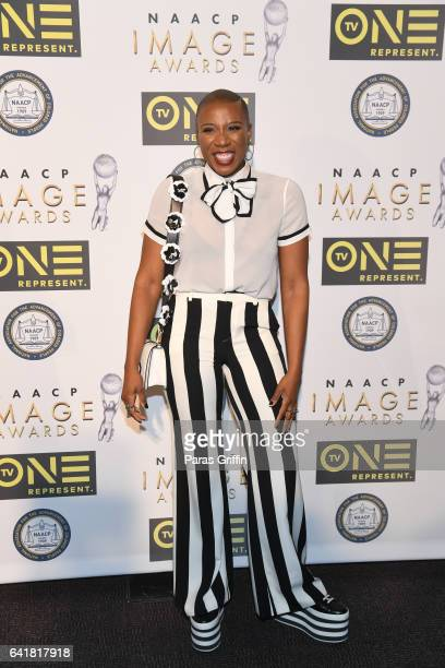 Actress Aisha Hinds attends 48th NAACP Image Dinner at Pasadena Convention Center on February 10 2017 in Pasadena California