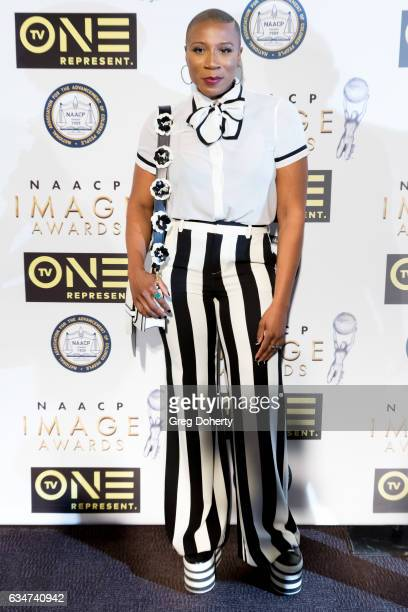 Actress Aisha Hinds attends the 48th NAACP Image Awards NonTelevised Awards Dinner at the Pasadena Convention Center on February 10 2017 in Pasadena...