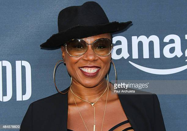 Actress Aisha Hinds attends the premiere of Amazon's series 'Hand Of God' at Ace Theater Downtown LA on August 19 2015 in Los Angeles California