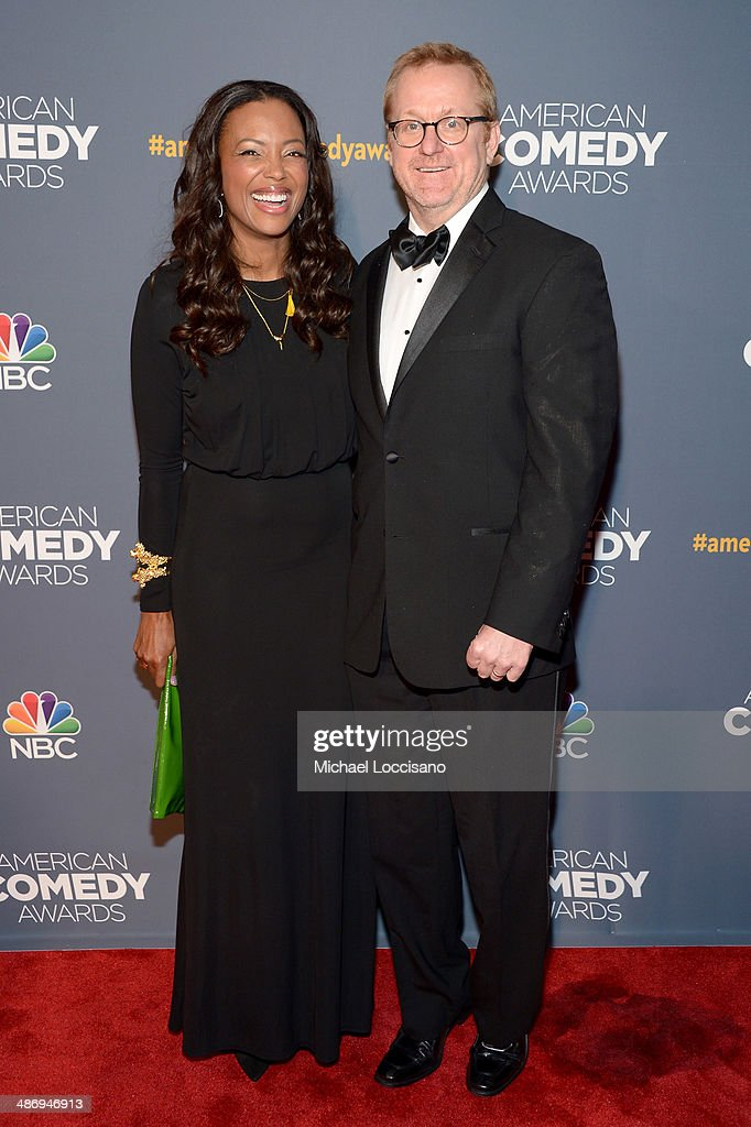Actress <a gi-track='captionPersonalityLinkClicked' href=/galleries/search?phrase=Aisha+Tyler&family=editorial&specificpeople=202262 ng-click='$event.stopPropagation()'>Aisha Tyler</a> (L) and Matt Thompson attend 2014 American Comedy Awards at Hammerstein Ballroom on April 26, 2014 in New York City.