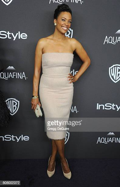 Actress Aisha Tyler arrives at the 2016 InStyle And Warner Bros 73rd Annual Golden Globe Awards PostParty at The Beverly Hilton Hotel on January 10...