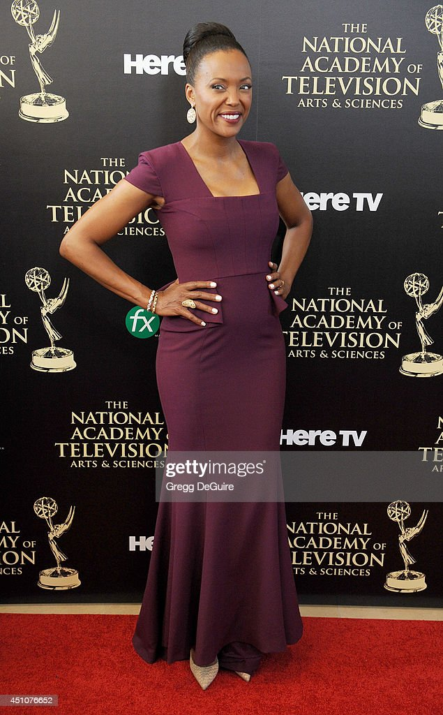Actress Aisha Tyler arrives at the 41st Annual Daytime Emmy Awards at The Beverly Hilton Hotel on June 22, 2014 in Beverly Hills, California.