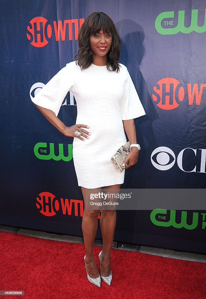 Actress Aisha Tyler arrives at the CBS, CW And Showtime 2015 Summer TCA Party at Pacific Design Center on August 10, 2015 in West Hollywood, California.