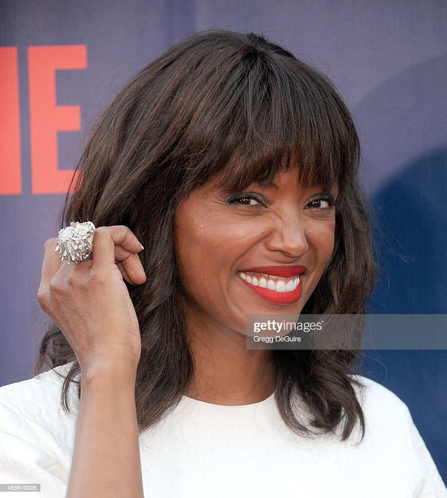 Actress <a gi-track='captionPersonalityLinkClicked' href=/galleries/search?phrase=Aisha+Tyler&family=editorial&specificpeople=202262 ng-click='$event.stopPropagation()'>Aisha Tyler</a> arrives at the CBS, CW And Showtime 2015 Summer TCA Party at Pacific Design Center on August 10, 2015 in West Hollywood, California.