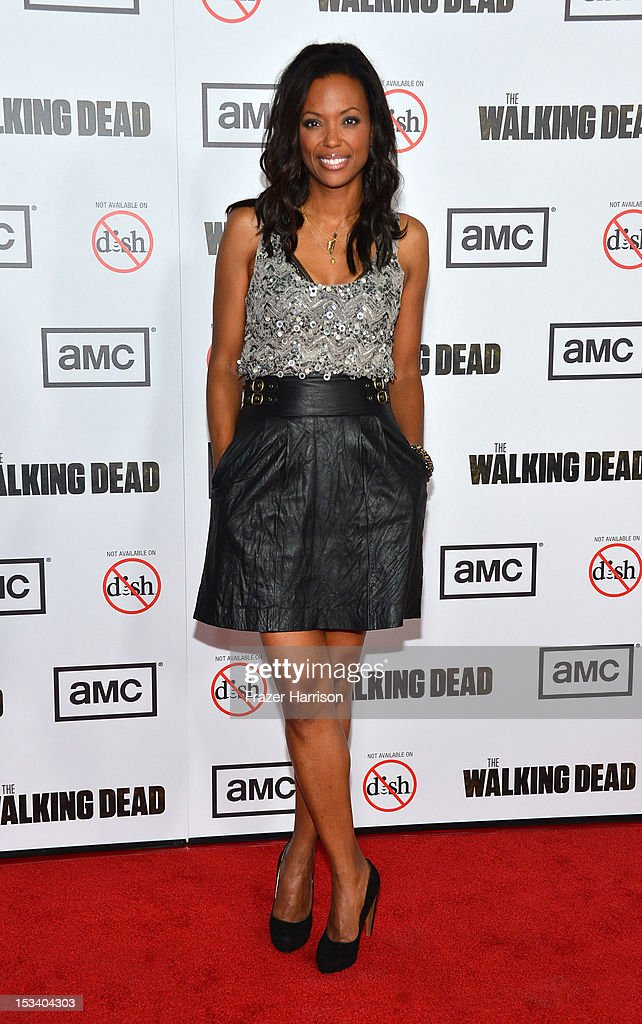 Actress Aisha Tyler arrives at the premiere of AMC's 'The Walking Dead' 3rd Season at Universal CityWalk on October 4, 2012 in Universal City, California.