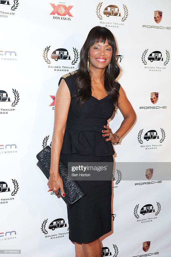 Actress Aisha Tyler attend the 14th Annual Golden Trailer Awards at Saban Theatre on May 3, 2013 in Beverly Hills, California.