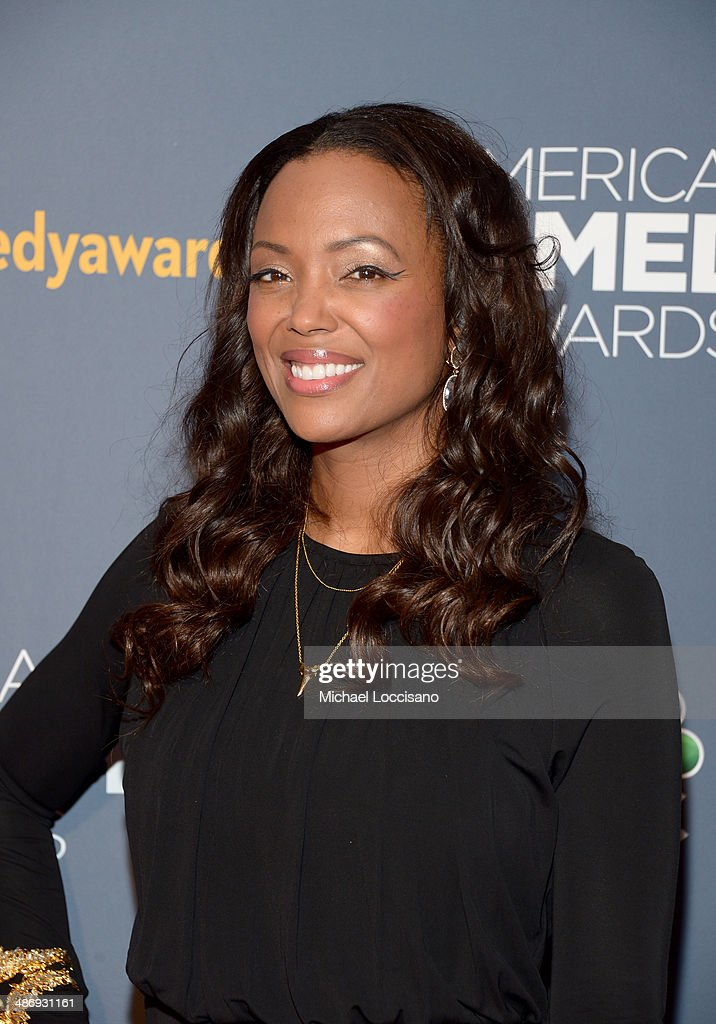 Actress <a gi-track='captionPersonalityLinkClicked' href=/galleries/search?phrase=Aisha+Tyler&family=editorial&specificpeople=202262 ng-click='$event.stopPropagation()'>Aisha Tyler</a> attends 2014 American Comedy Awards at Hammerstein Ballroom on April 26, 2014 in New York City.