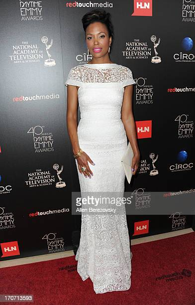 Actress Aisha Tyler attends 40th Annual Daytime Entertaimment Emmy Awards Arrivals at The Beverly Hilton Hotel on June 16 2013 in Beverly Hills...
