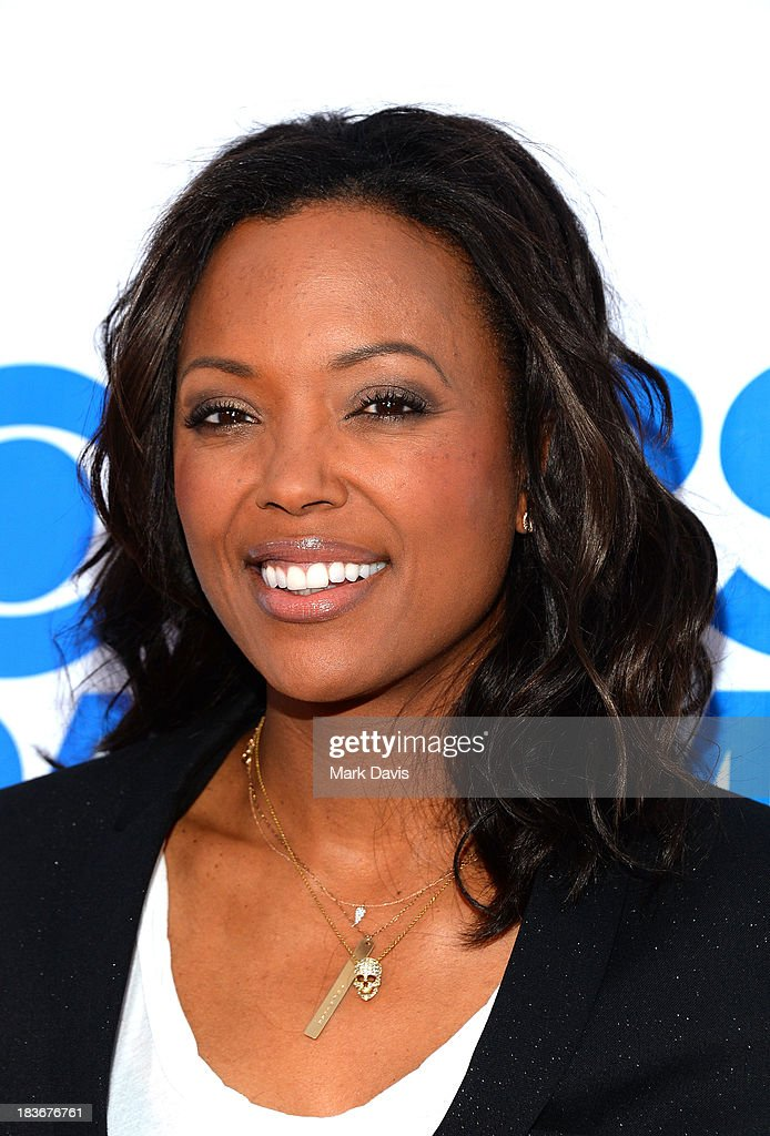 Actress <a gi-track='captionPersonalityLinkClicked' href=/galleries/search?phrase=Aisha+Tyler&family=editorial&specificpeople=202262 ng-click='$event.stopPropagation()'>Aisha Tyler</a> attends 'CBS Daytime After Dark' at The Comedy Store on October 8, 2013 in West Hollywood, California.