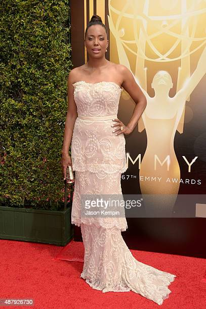 Actress Aisha Tyler attends the 2015 Creative Arts Emmy Awards at Microsoft Theater on September 12 2015 in Los Angeles California