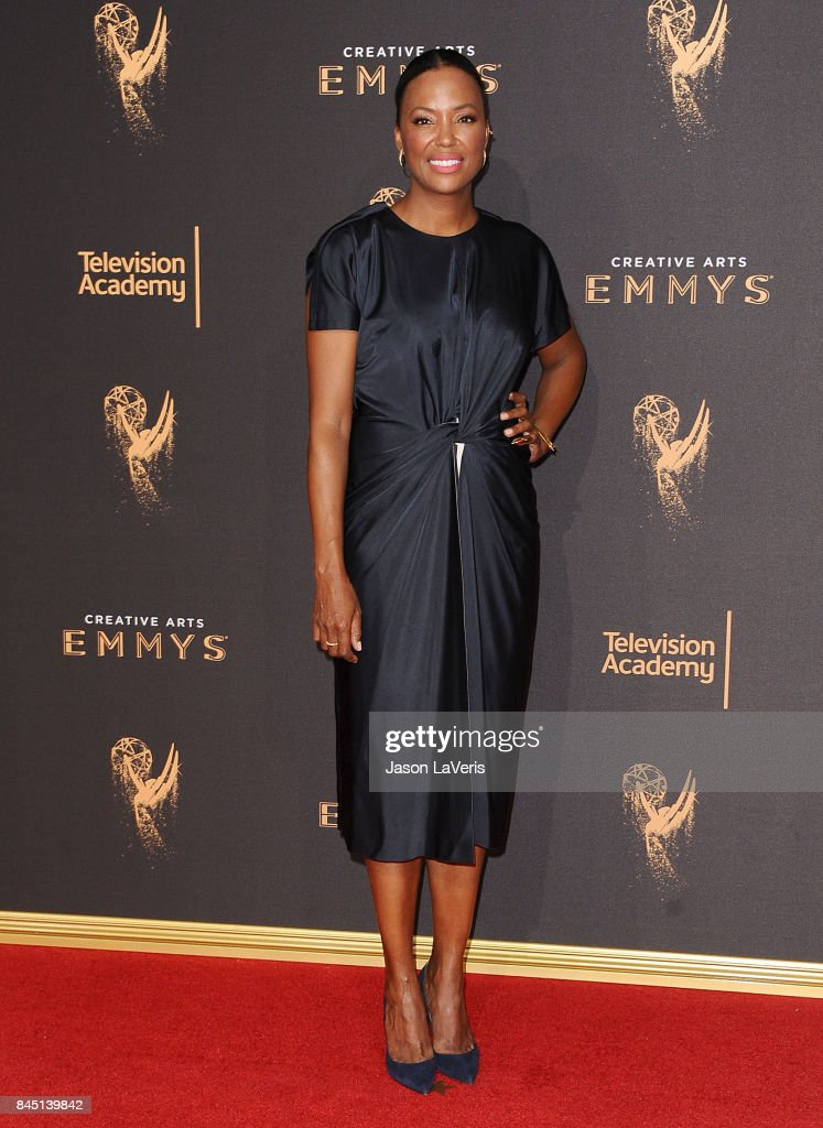 Actress Aisha Tyler attends the 2017 Creative Arts Emmy Awards at Microsoft Theater on September 9, 2017 in Los Angeles, California.