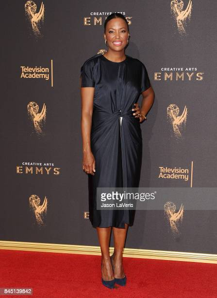 Actress Aisha Tyler attends the 2017 Creative Arts Emmy Awards at Microsoft Theater on September 9 2017 in Los Angeles California