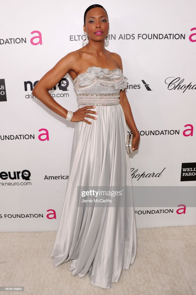 Actress Aisha Tyler attends the 21st Annual Elton John AIDS Foundation Academy Awards Viewing Party at West Hollywood Park on February 24, 2013 in West Hollywood, California.