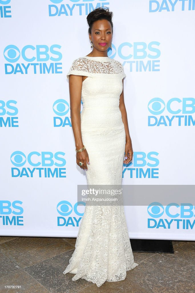 Actress <a gi-track='captionPersonalityLinkClicked' href=/galleries/search?phrase=Aisha+Tyler&family=editorial&specificpeople=202262 ng-click='$event.stopPropagation()'>Aisha Tyler</a> attends The 40th Annual Daytime Emmy Awards After Party at The Beverly Hilton Hotel on June 16, 2013 in Beverly Hills, California.