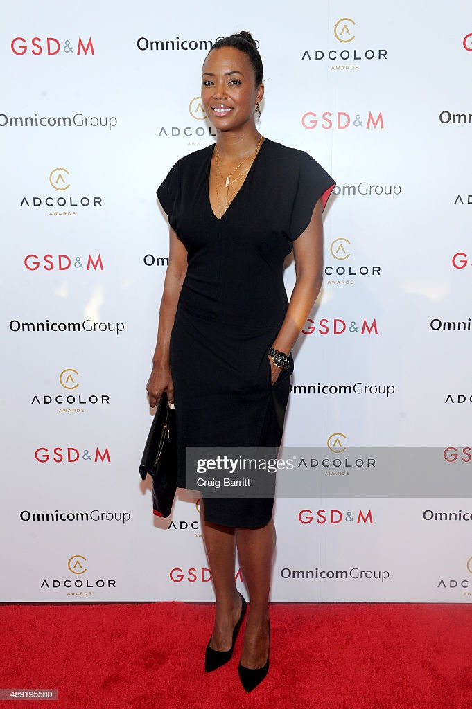 Actress <a gi-track='captionPersonalityLinkClicked' href=/galleries/search?phrase=Aisha+Tyler&family=editorial&specificpeople=202262 ng-click='$event.stopPropagation()'>Aisha Tyler</a> attends the 9th Annual ADCOLOR Awards at Pier 60 on September 19, 2015 in New York City.