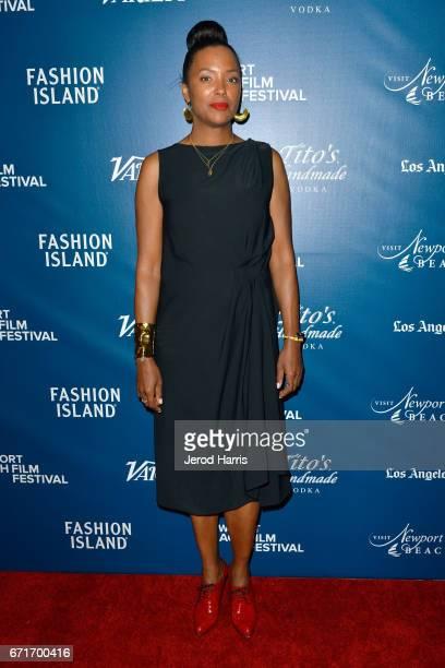 Actress Aisha Tyler attends the Newport Beach Film Festival Honors at the Balboa Bay Club on April 22 2017 in Newport Beach California
