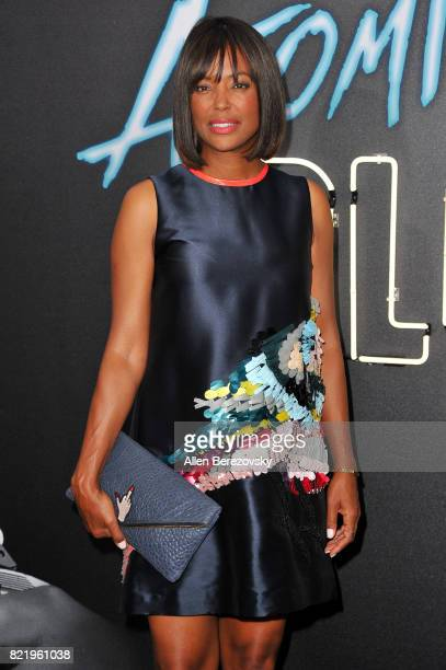 Actress Aisha Tyler attends the premiere Of Focus Features' 'Atomic Blonde' at The Theatre at Ace Hotel on July 24 2017 in Los Angeles California