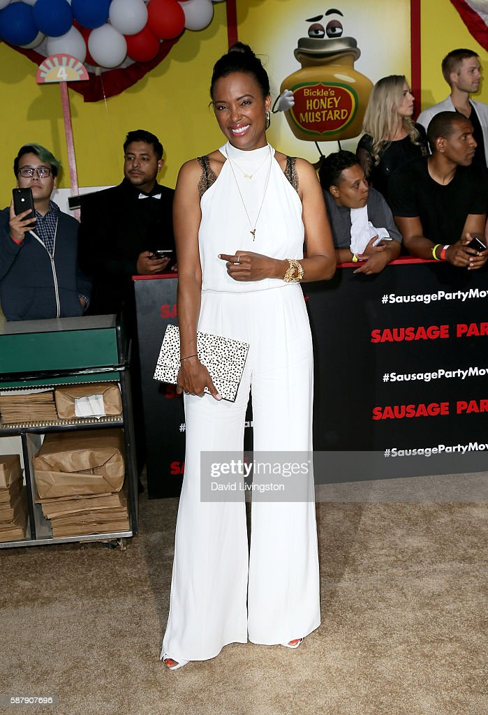 Actress Aisha Tyler attends the premiere of Sony's 'Sausage Party' at Regency Village Theatre on August 9 2016 in Westwood California