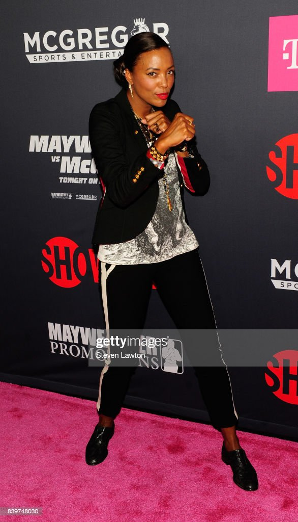 Actress Aisha Tyler attends the VIP party before the boxing match between boxer Floyd Mayweather Jr. and Conor McGregor at T-Mobile Arena on August 26, 2017 in Las Vegas, Nevada.