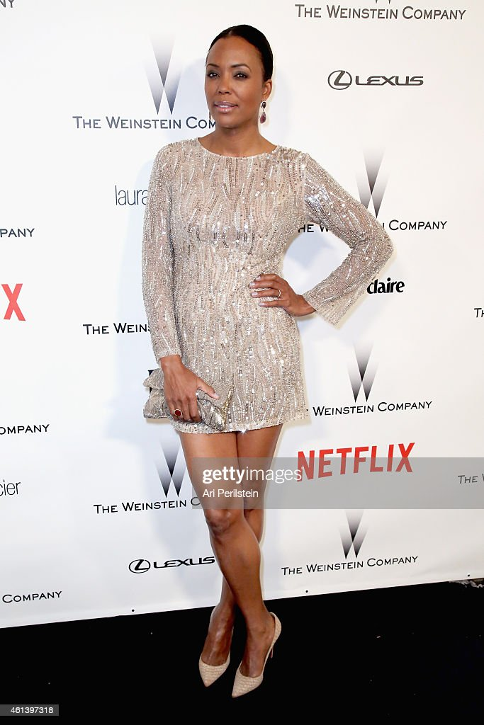 Actress <a gi-track='captionPersonalityLinkClicked' href=/galleries/search?phrase=Aisha+Tyler&family=editorial&specificpeople=202262 ng-click='$event.stopPropagation()'>Aisha Tyler</a> attends The Weinstein Company & Netflix's 2015 Golden Globes After Party presented by FIJI Water, Lexus, Laura Mercier and Marie Claire at The Beverly Hilton Hotel on January 11, 2015 in Beverly Hills, California.
