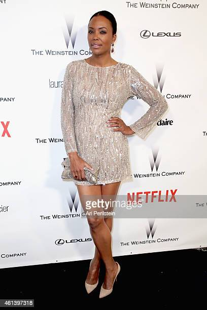 Actress Aisha Tyler attends The Weinstein Company Netflix's 2015 Golden Globes After Party presented by FIJI Water Lexus Laura Mercier and Marie...