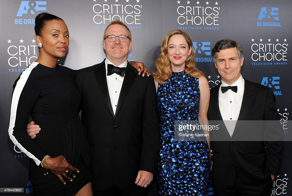Actress Aisha Tyler, producer Matt Thompson, actress Judy Greer and actor Chris Parnell attend the 5th Annual Critics' Choice Television Awards at The Beverly Hilton Hotel on May 31, 2015 in Beverly Hills, California.