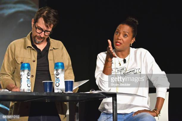 Actress Aisha Tyler speaks onstage during Saturday Morning Cartoons in the ATT Studio at the 2017 Vulture Festival at Milk Studios on May 20 2017 in...