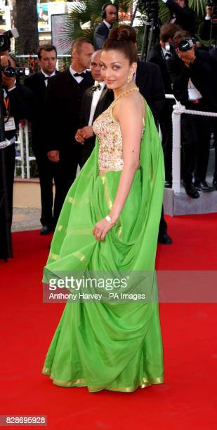 Actress Aishwarya Rai arriving for the premiere of Nicole Kidman's new film 'Dogville' at the Palais des Fastival during the 56th Cannes film...