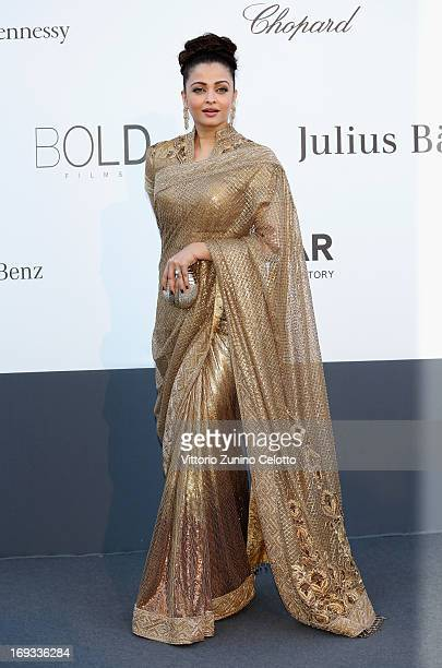 Actress Aishwarya Rai attends amfAR's 20th Annual Cinema Against AIDS during The 66th Annual Cannes Film Festival at Hotel du CapEdenRoc on May 23...