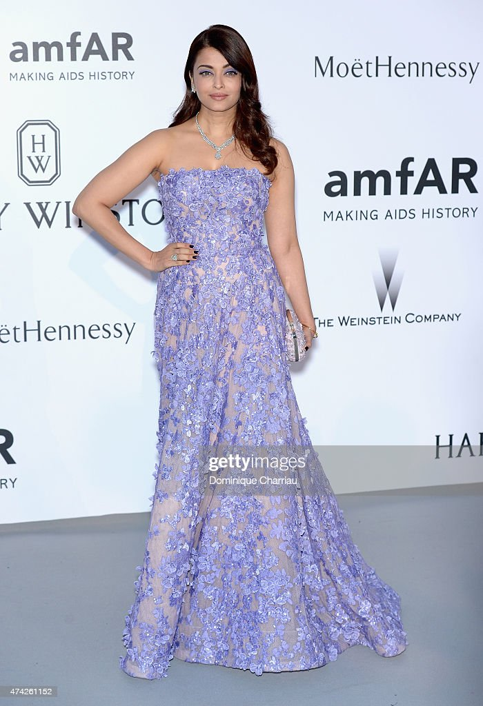 Actress <a gi-track='captionPersonalityLinkClicked' href=/galleries/search?phrase=Aishwarya+Rai&family=editorial&specificpeople=202237 ng-click='$event.stopPropagation()'>Aishwarya Rai</a> attends amfAR's 22nd Cinema Against AIDS Gala, Presented By Bold Films And Harry Winston at Hotel du Cap-Eden-Roc on May 21, 2015 in Cap d'Antibes, France.