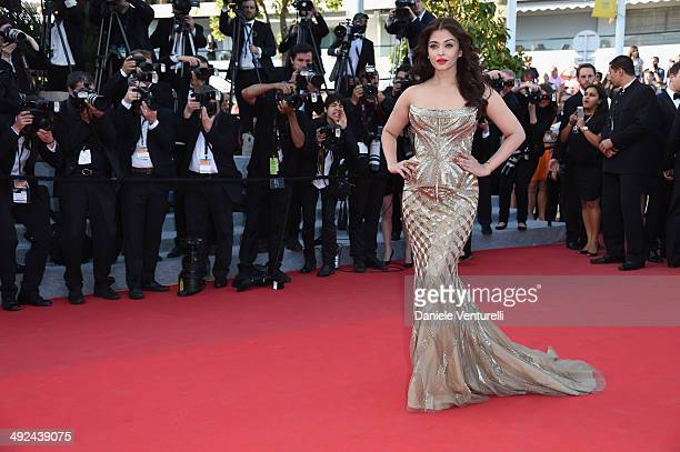 Actress Aishwarya Rai attends the 'Two Days One Night' premiere during the 67th Annual Cannes Film Festival on May 20 2014 in Cannes France