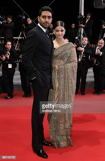 Actress Aishwarya Rai Bachchan and Abhishek Bachchan attends 'Outrage' Premiere at the Palais des Festivals during the 63rd Annual Cannes Film...