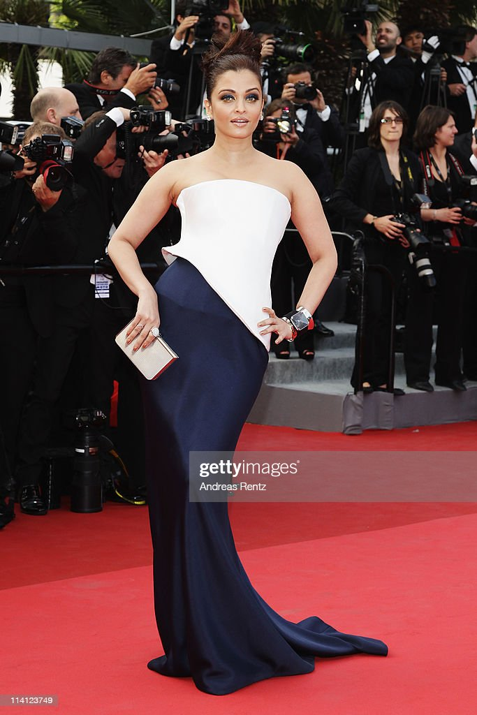 Actress Aishwarya Rai Bachchan arrives at the 'Sleeping Beauty' premiere during the 64th Annual Cannes Film Festival at the Palais des Festivals on May 12, 2011 in Cannes, France.