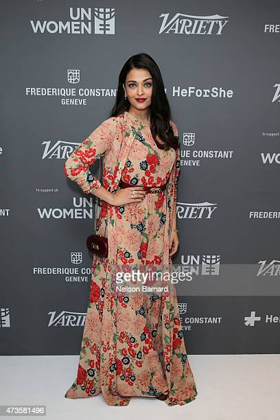 Actress Aishwarya Rai Bachchan attends the Variety and UN Women's panel discussion on gender equality at 68th Cannes Film Festival at Radisson Blu on...