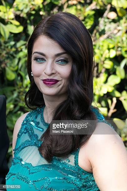 Actress Aishwarya Rai is seen leaving the Grand Hyatt Cannes Hotel Martinez during the 68th annual Cannes Film Festival on May 17 2015 in Cannes...