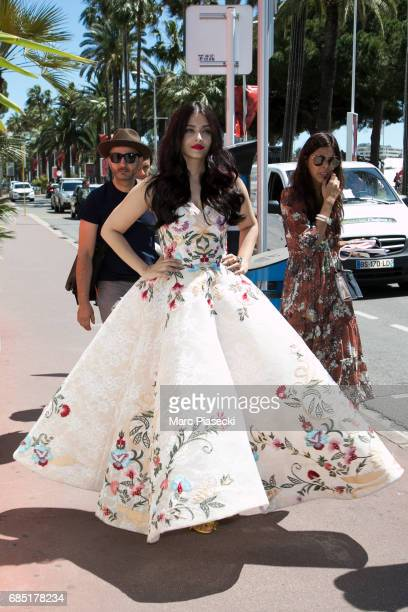Actress Aishwarya Rai is spotted during the 70th annual Cannes Film Festival at on May 19 2017 in Cannes France