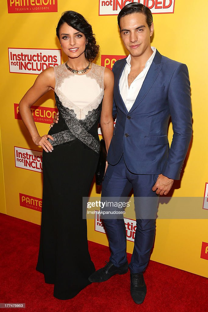 Actress Aislinn Derbez (L) and actor <a gi-track='captionPersonalityLinkClicked' href=/galleries/search?phrase=Vadhir+Derbez&family=editorial&specificpeople=7165513 ng-click='$event.stopPropagation()'>Vadhir Derbez</a> attend the premiere of Pantelion Films' 'Instructions Not Included' at TCL Chinese Theatre on August 22, 2013 in Hollywood, California.