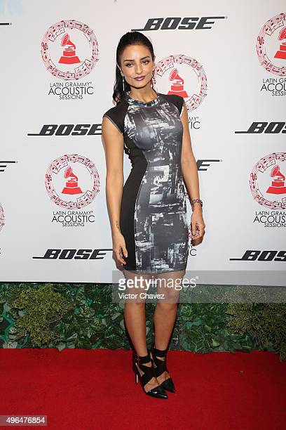 Actress Aislinn Derbez attends the Latin Grammy Acustic Sessions at Estacion Indianillas on November 9 2015 in Mexico City Mexico