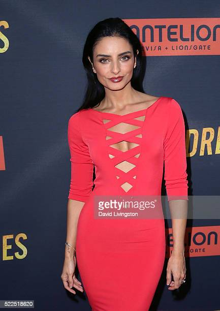 Actress Aislinn Derbez attends the premiere of Pantelion Films' 'Compadres' at ArcLight Hollywood on April 19 2016 in Hollywood California