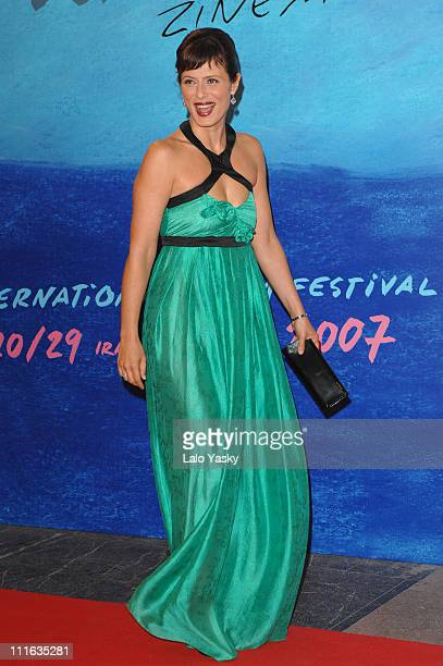 Actress Aitana Sanchez Gijon attends The Inner Life of Martin Frost Premiere at the Kursaal Palace during the 2007 San Sebastian Film Festival on...