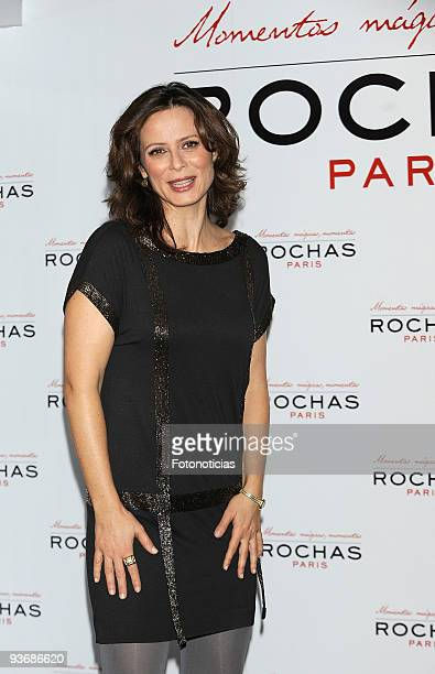 Actress Aitana Sanchez Gijon presents her 'Magic Moments' at the Vincci Hotel on December 3 2009 in Madrid Spain