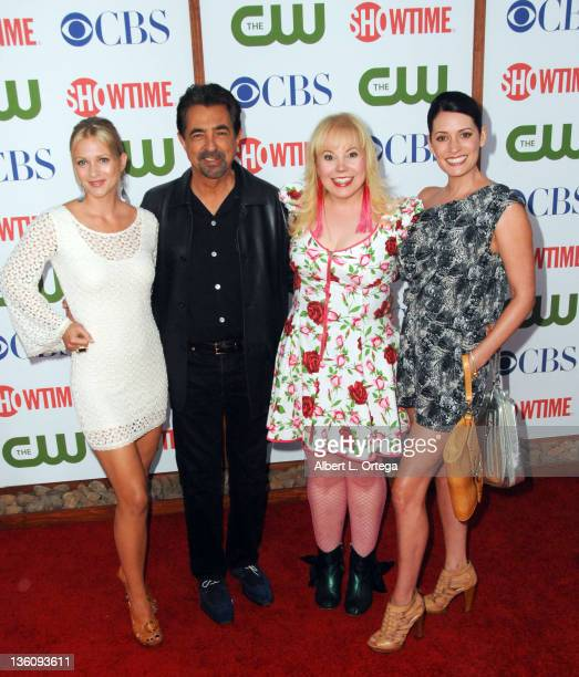 Actress AJ Cook actor Joe Mantegna actress Kristen Vangsness and actress Paget Brewster arrive at the TCA Party for CBS The CW and Showtime held at...